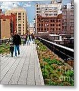 The High Line Urban Park New York Citiy Metal Print