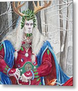 The Holly King Metal Print
