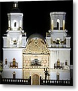 The Mission At Night Metal Print