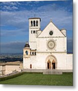 The Papal Basilica Of St. Francis Of Assisi  Metal Print