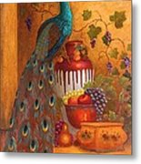 The Peacock Metal Print