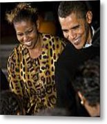 The President And First Lady Metal Print by JP Tripp