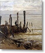 The Sea At Villerville Metal Print