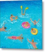 The Swimmers Metal Print