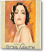 The Trespasser, Gloria Swanson, 1929 Metal Print