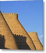 The Walls Of The Ark At Bukhara In Uzbekistan Metal Print