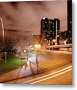 Theatrical Lights Give The Surface Metal Print