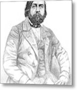 Theophile Gautier  French Writer Metal Print