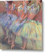 Three Dancers Metal Print by Edgar Degas