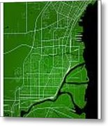 Thunder Bay Street Map - Thunder Bay Canada Road Map Art On Colo Metal Print