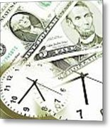 Time Is Money Concept Metal Print by Les Cunliffe