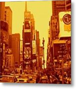 42nd Street And Times Square Manhattan Metal Print