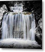 2 Tone Waterfall Metal Print