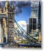 Tower Bridge And The City Metal Print