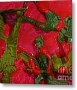 Toy Soldiers In A Pool Of Blood Metal Print