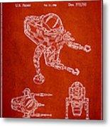 Toy Space Vehicle Patent Metal Print