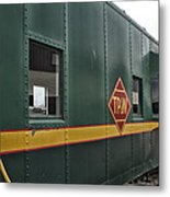 Tpw Rr Caboose Side View Metal Print