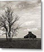 2 Tree Barn Metal Print