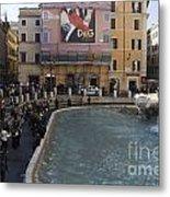 Trevi Fountain Rome Metal Print