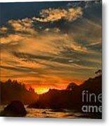 Trinidad Beach Sunset Metal Print by Adam Jewell