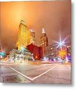 Tulsa City Skyline Around Downtown Streets Metal Print