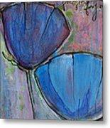 Two Blue Poppies Metal Print