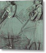 Two Dancers Metal Print by Edgar Degas