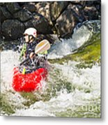 Two Whitewater Kayaks Metal Print