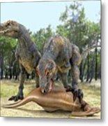 Tyrannosaurus Rex Dinosaurs Metal Print