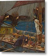 Ulysses And The Sirens Metal Print