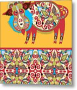 Unusual Ukrainian Traditional Tribal 2 Metal Print