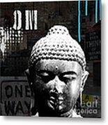 Urban Buddha  Metal Print by Linda Woods