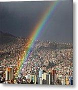 Urban Rainbow La Paz Bolivia Metal Print