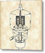 Vacuum Tube Patent 1942 - Vintage Metal Print