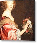 Van Dyck's Catherine Howard -- Lady D'aubigny Metal Print