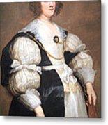 Van Dyck's Lady With A Fan Metal Print