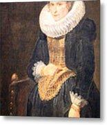 Van Dyck's Portrait Of A Flemish Lady Metal Print