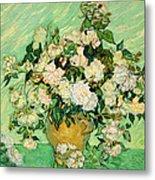 Van Gogh's Roses Metal Print