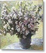 Vase Of Flowers Metal Print by Claude Monet