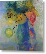 Vase Of Flowers Metal Print by Odilon Redon
