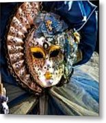 Venice Carnival Mask Metal Print