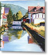 View Along The Canal Metal Print