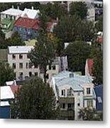 View Of Reykjavik Iceland Metal Print