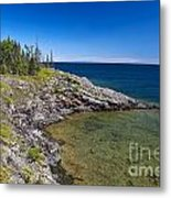 View Of Rock Harbor And Lake Superior Isle Royale National Park Metal Print