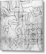 Villard De Honnecourt (c1225-c1250) Metal Print