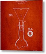 Vintage Bottle Neck Patent From 1891 Metal Print