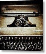 Vintage Olympia Typewriter Metal Print