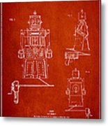 Vintage Toy Robot Patent Drawing From 1955 Metal Print
