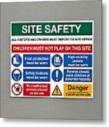 Warning Sign Metal Print