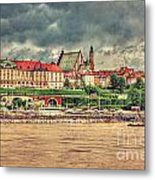 Warsaw View Of The Royal Castle Hdr Metal Print